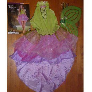 Womens WOODLAND Fairy Halloween Costume Wings  XL